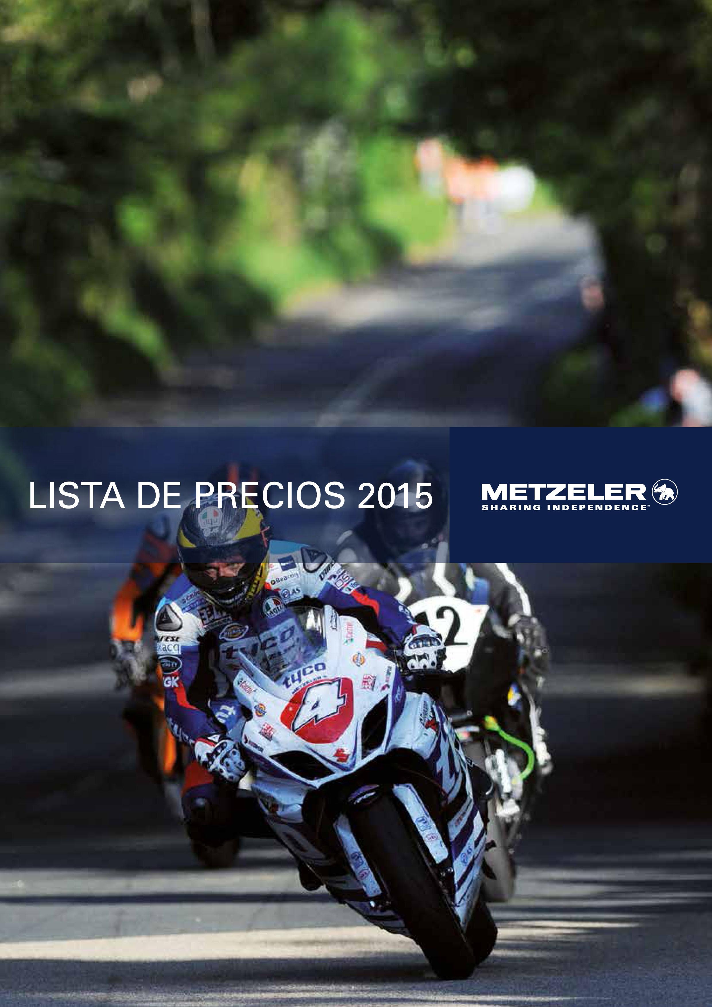 Catalogo informacion Metzeler Neumoto Neumaticos Valencia